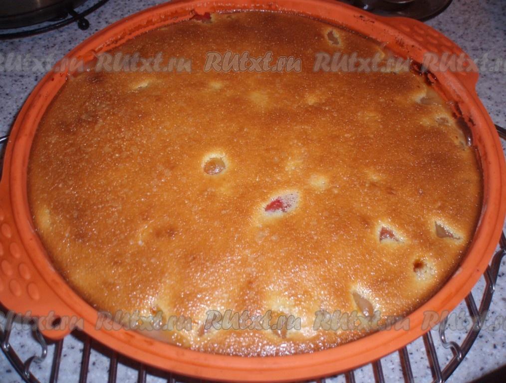 Сливовый пирог на кефире рецепт пошагово