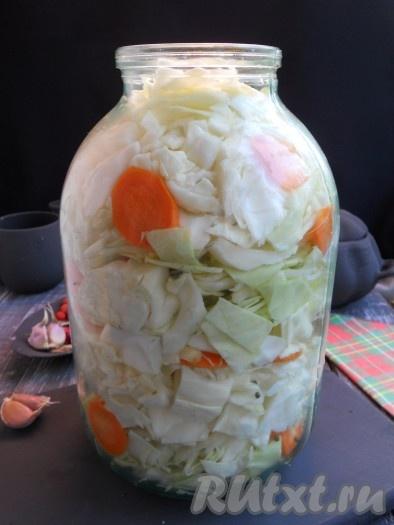 рецепт капусты кусочками маринованной быстрого приготовления