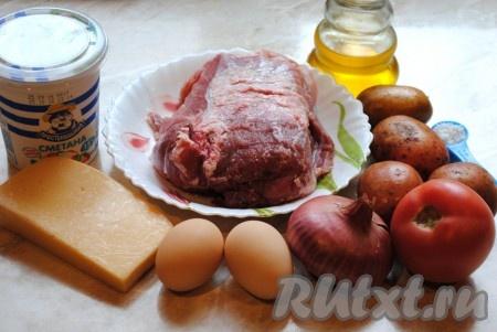 Как запечь свинину с овощами в духовке в фольге