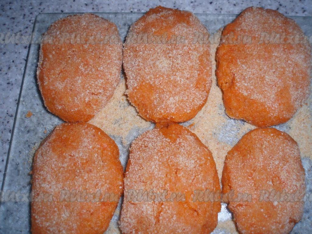 рецепт котлеты из моркови постные рецепт