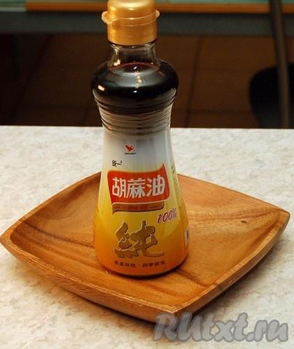 Кунжутное масло.