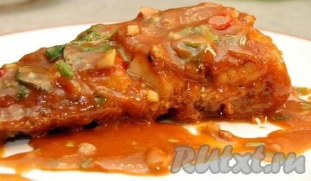 Можно начинать снимать пробу. Любители китайской кухни оценят это блюдо.