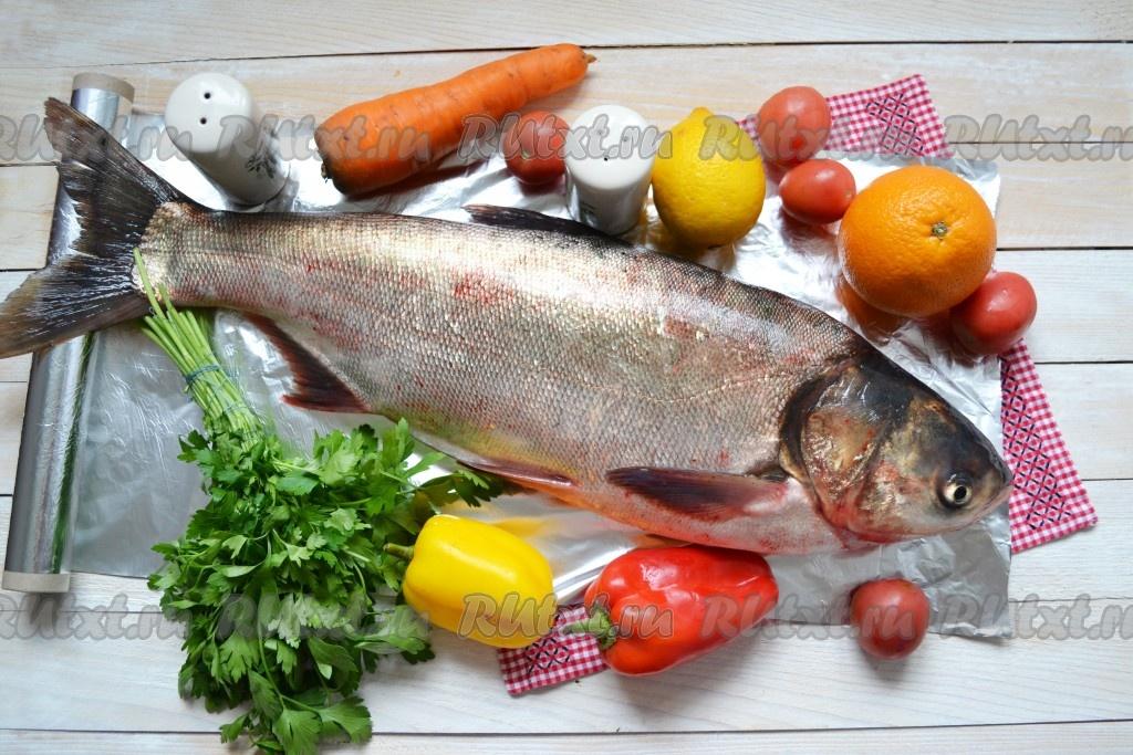 вкусная запеченная целая рыба толстолобик параметры