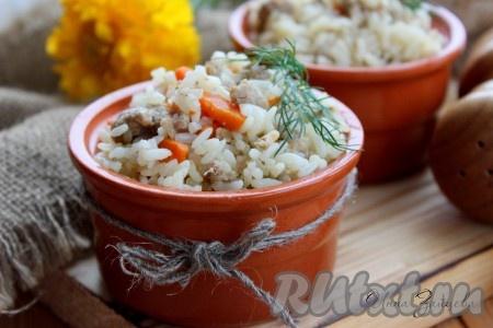 Ароматный, вкусный, сытный рис с фаршем и овощами готов.