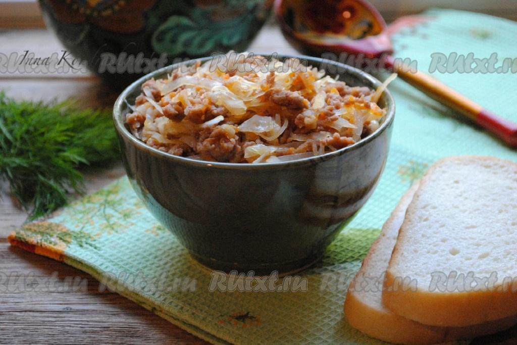Кабачок с фаршем на сковороде рецепт с фото