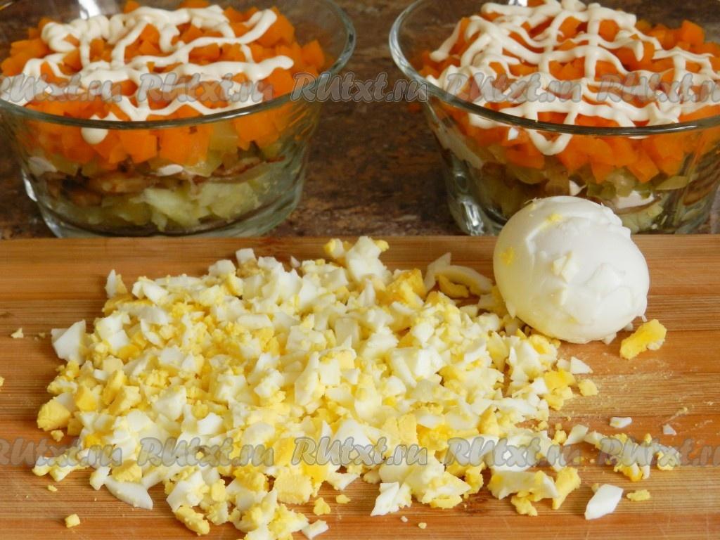 Салаты с жареными грибами рецепты простые и вкусные