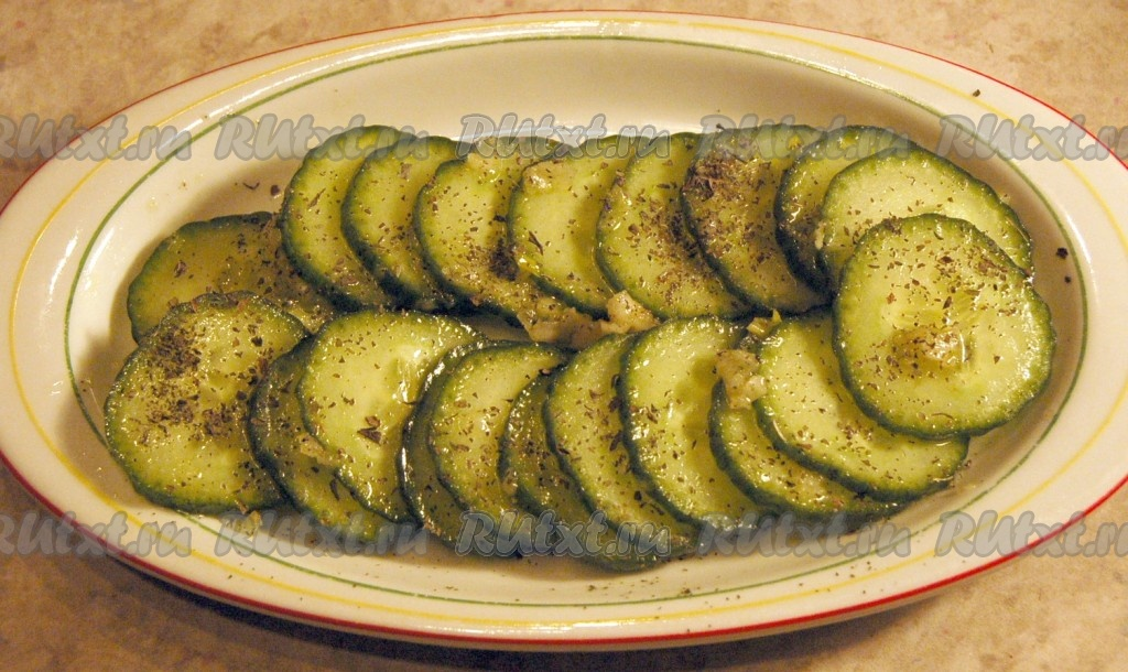 рецепт салата из огурцов и мяты