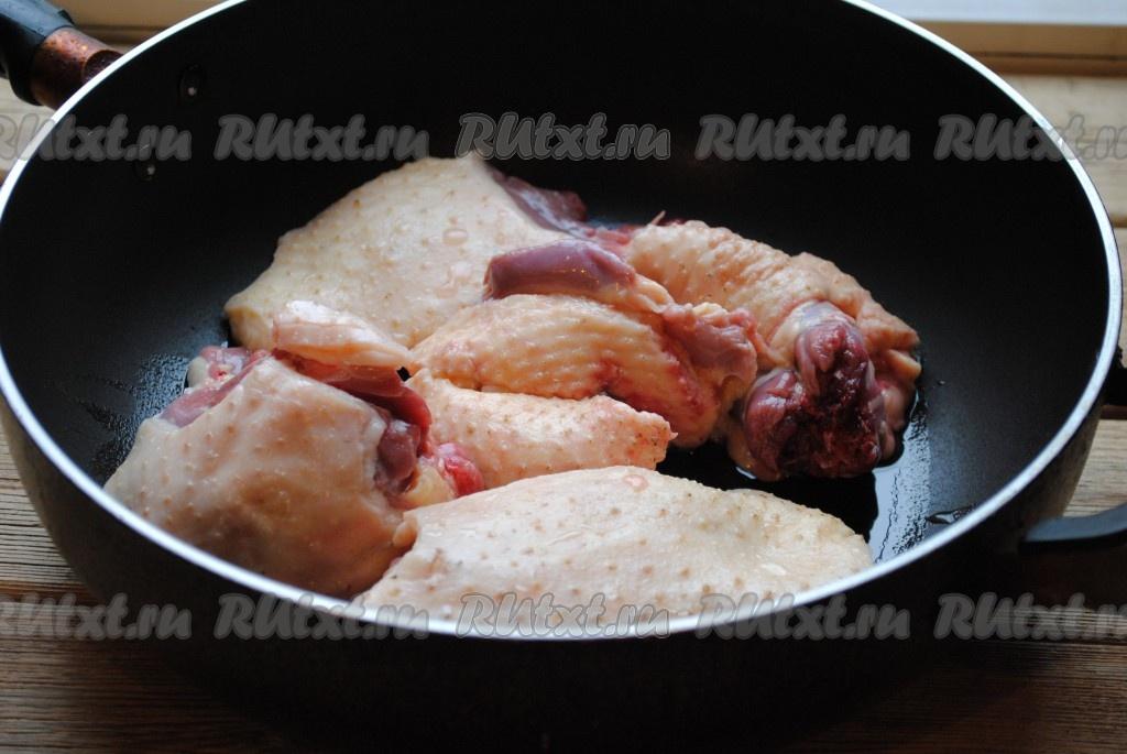 Гусь кусочками в духовке пошаговый рецепт в рукаве с картошкой