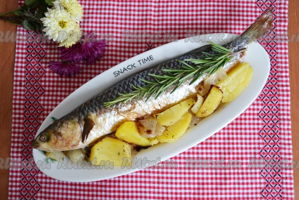 рецепт фото рыба в духовке целиком