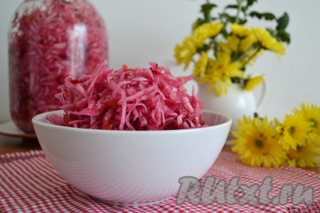 Рецепты квашеной капусты со свеклой