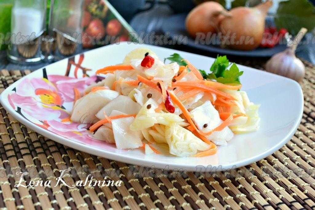 капуста маринованная с морковью быстрого приготовления рецепт