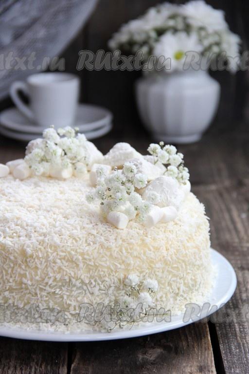 кокосовый торт в мультиварке рецепты с фото