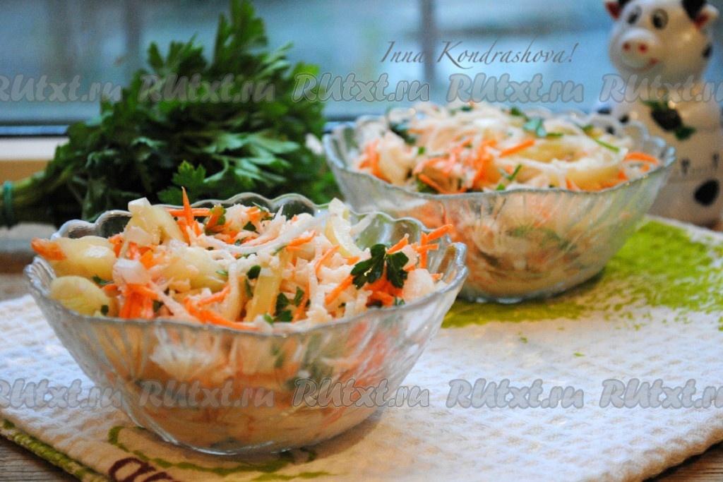 Салат из дайкона рецепты простые и вкусные