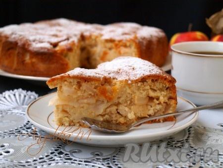 Сочный яблочный пирог рецепт с фото