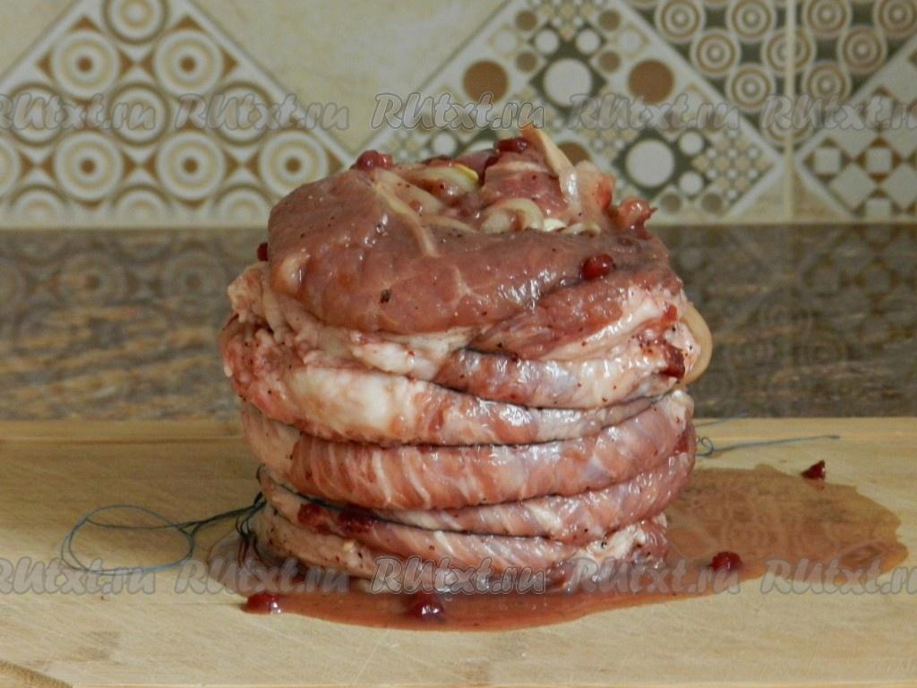 рецепты из грудинки свиной в духовке