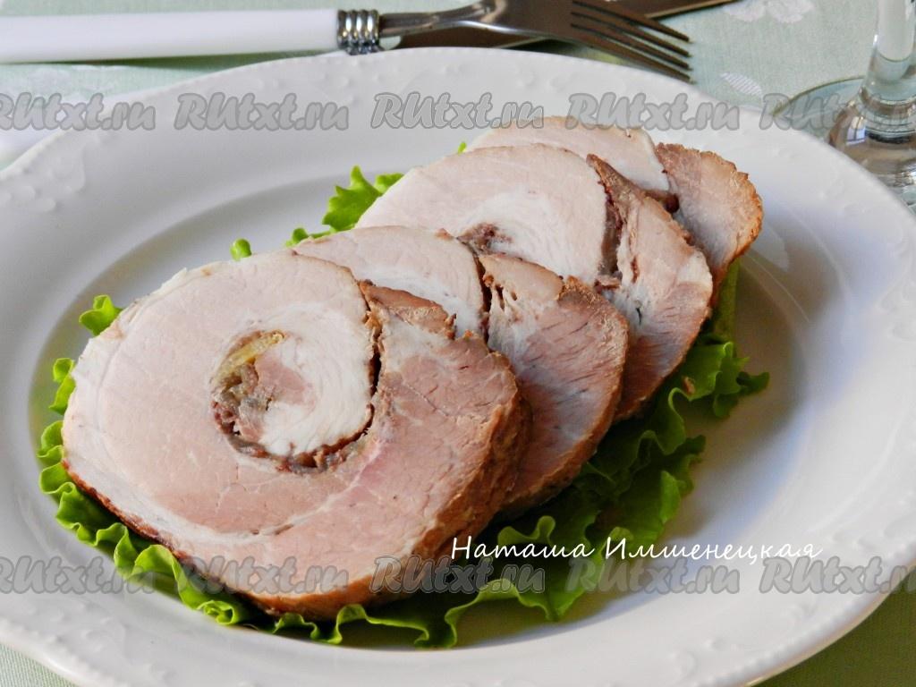 Рецепт грудинки свиной вареной в соевом соусе