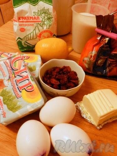 Ингредиенты для приготовления Львовского сырника с клюквой и шоколадным штрейзелем