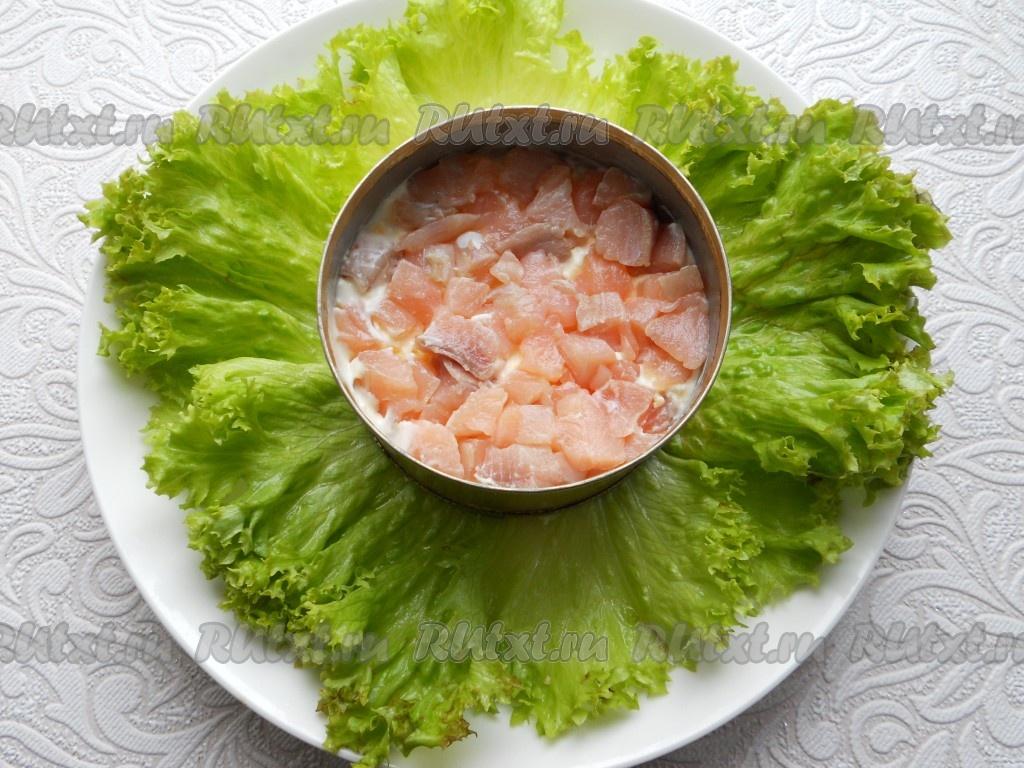 Салаты с сёмгой рецепты с слоями