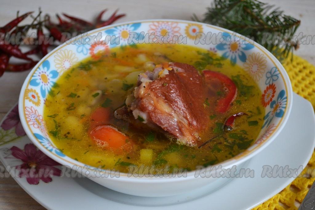 рецепты супа фасолевого с копчеными ребрышками