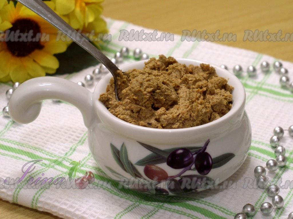 Печень куриная вареная рецепт паштет