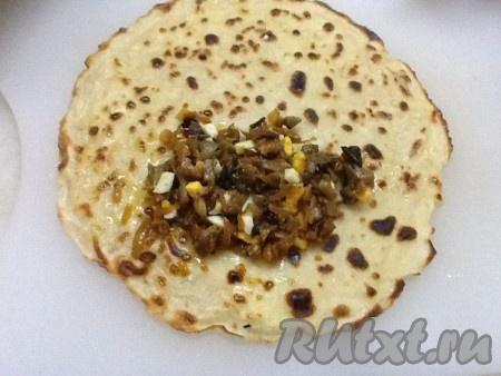 Рецепт блинчики с грибами