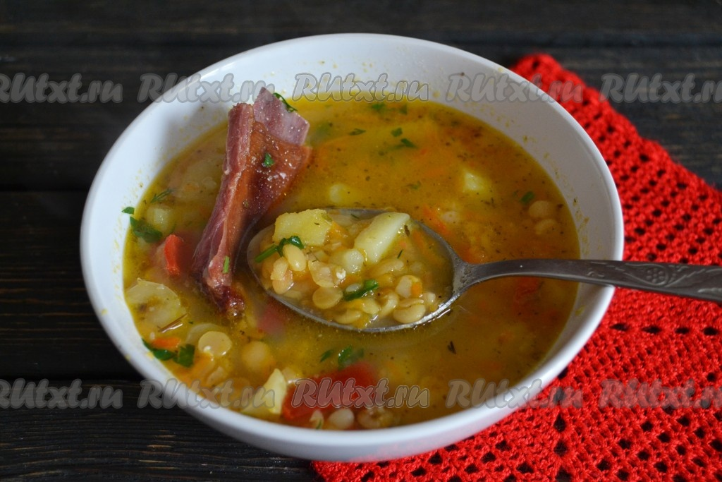 Гороховый суп из ребрышек