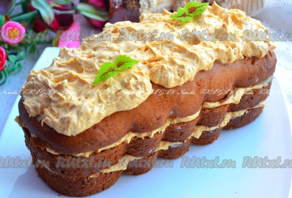 Бисквитный торт с масляным кремом рецепт фото
