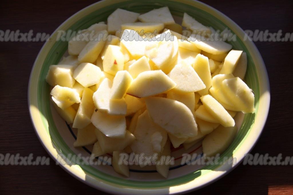 шарлотка с яблоками и медом рецепт с фото