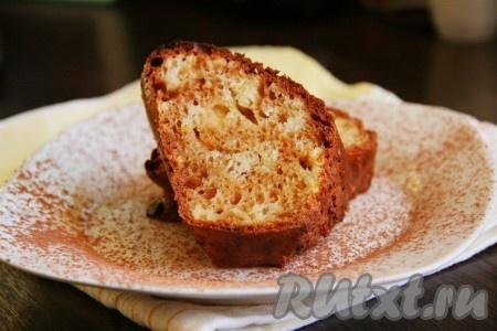 Творожный кекс с лимоном рецепт с фото