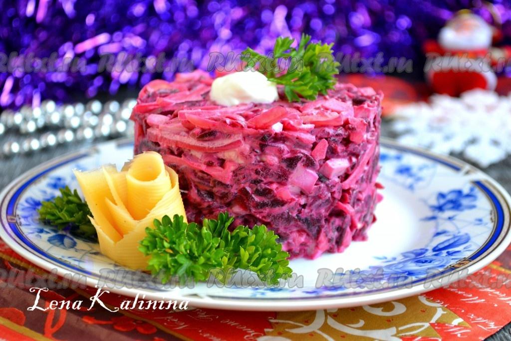 вкусный салат с вареной свеклой рецепт