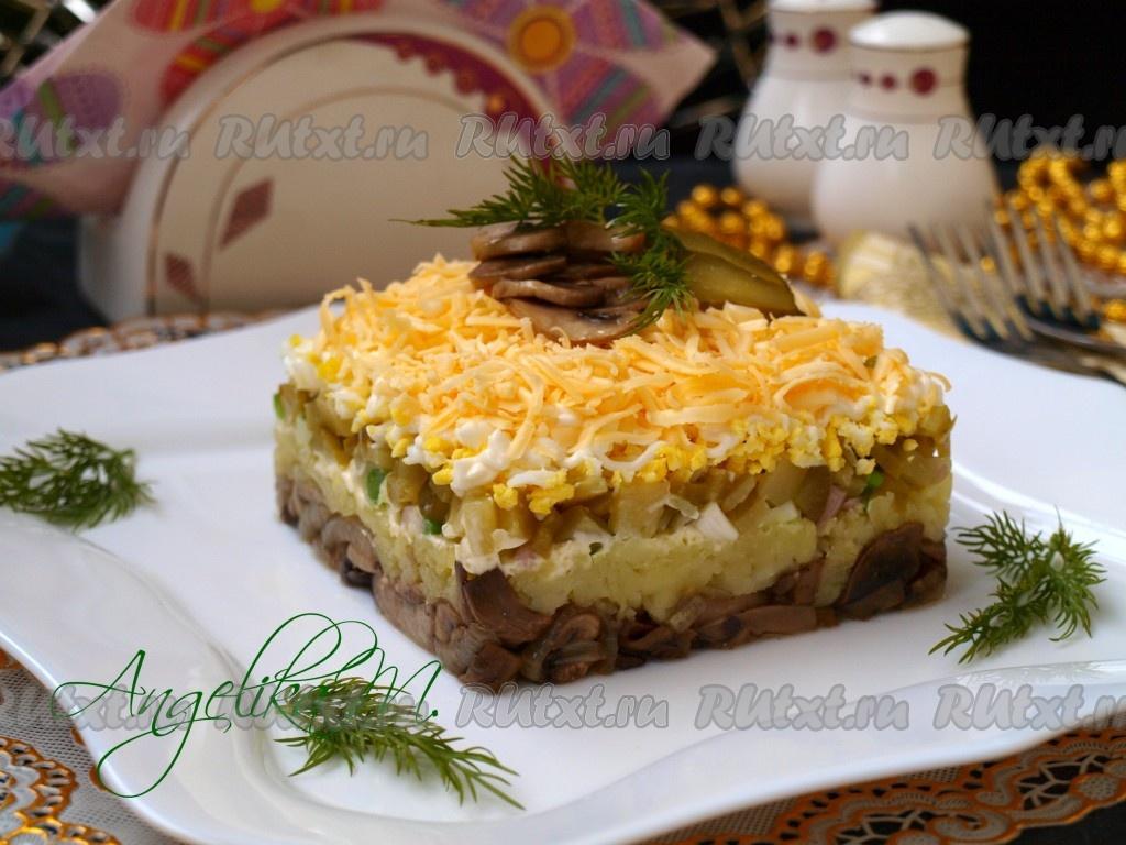 Картошка с грибами в сметане в горшочках рецепт с фото