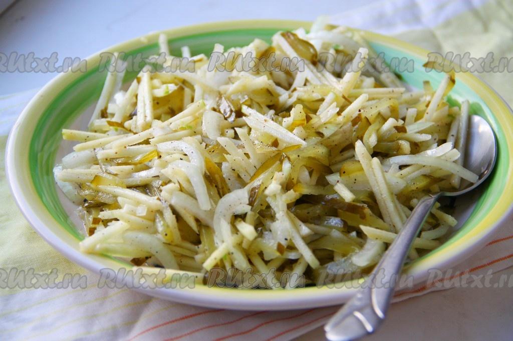 вкусный салат с яблоком рецепт