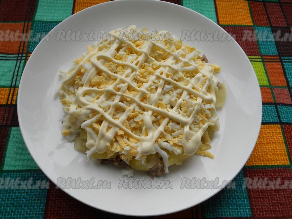мясной салат рецепт с солеными огурцами рецепт