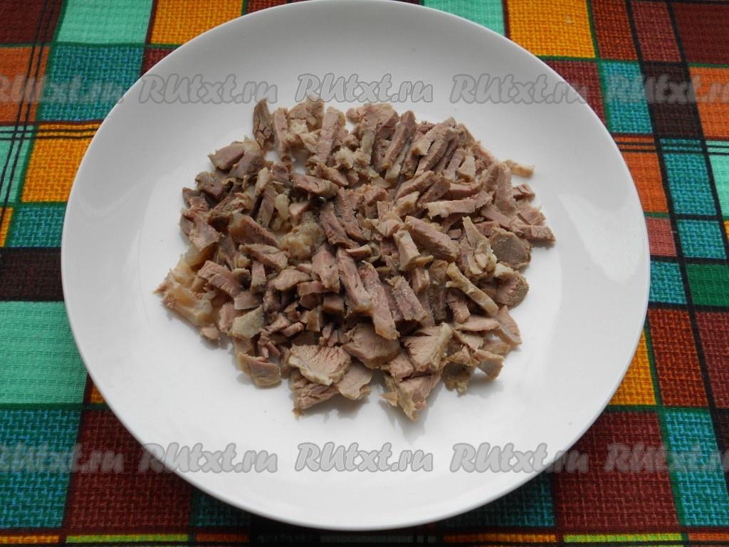 мясной салат с огурцами рецепт с фото