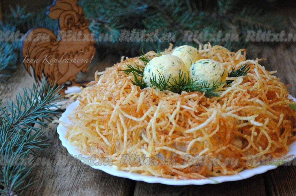 Гнездо глухаря салат рецепт с языком 27