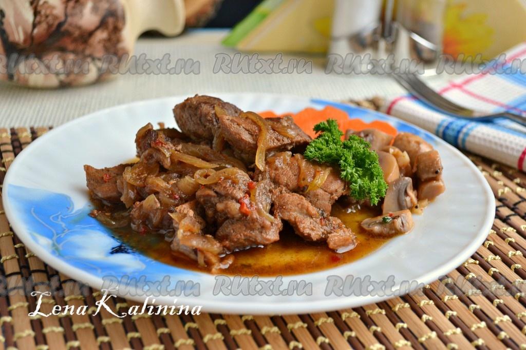 Свинина с колбасой в духовке рецепт с фото