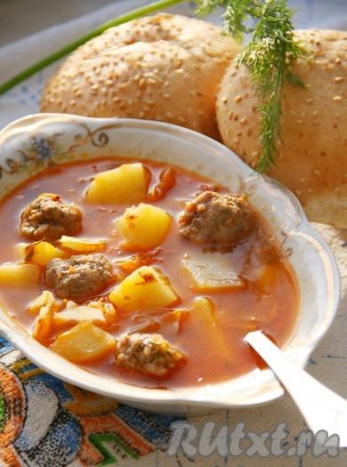 рецепт оригинального супа с фрикадельками
