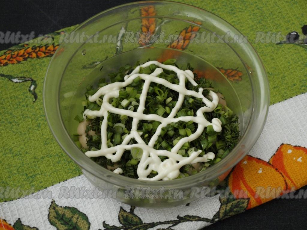 Рецепт салата грибы с корейской морковью