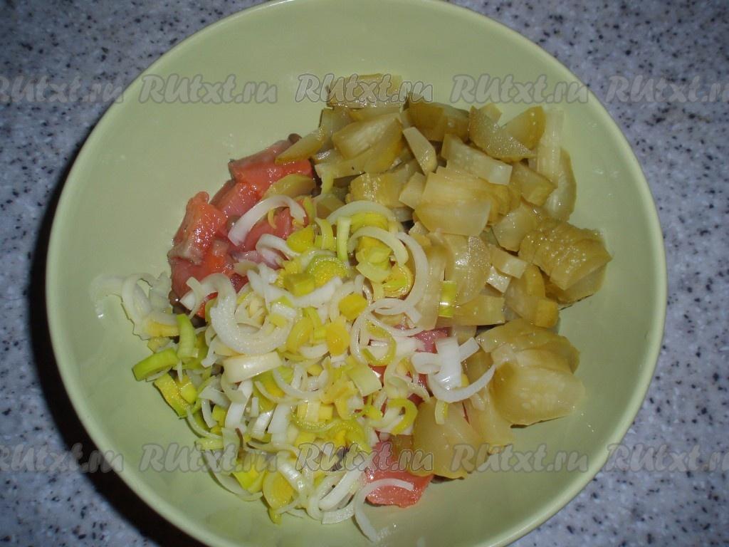 салат порей рецепт с фото