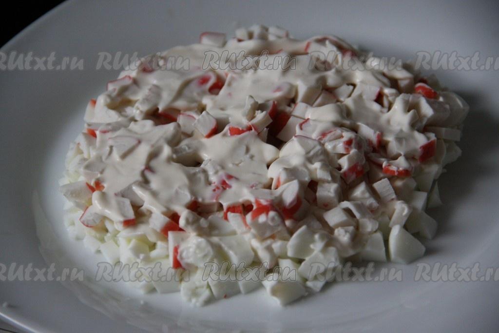 Салат мимоза с крабовыми палочками классический рецепт