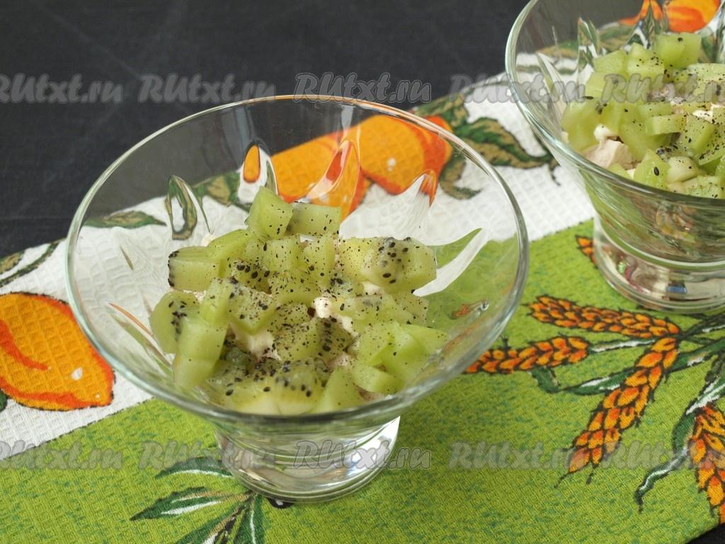 Салат с киви и сыром: рецепт приготовления