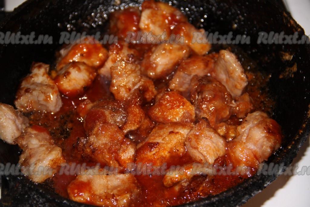 Как приготовить мясо в кисло сладком соусе в домашних условиях