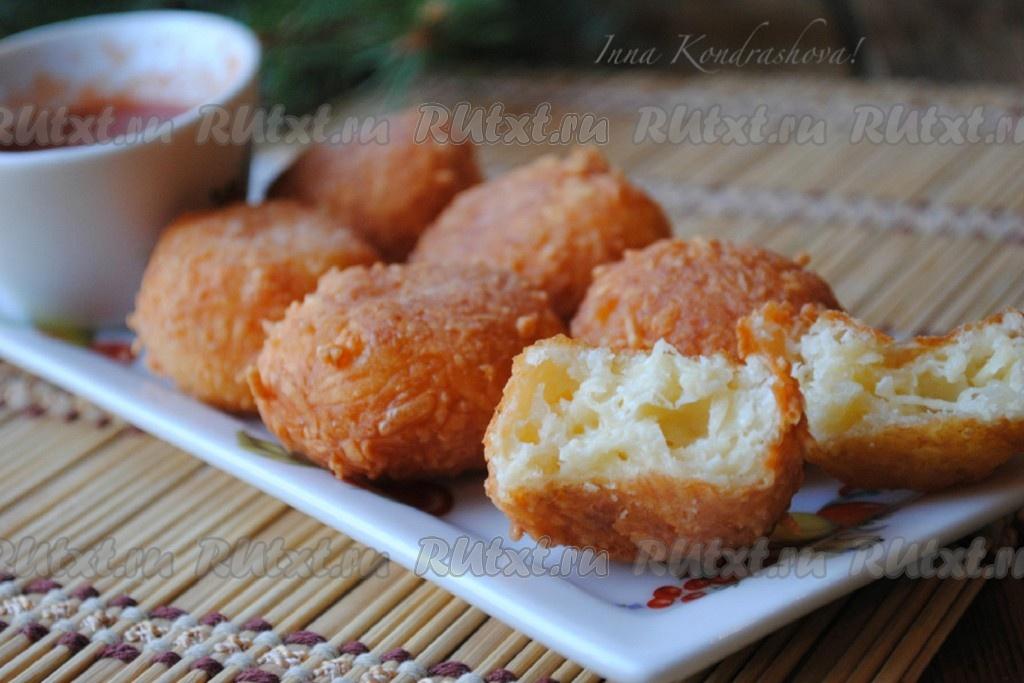 Сырные шарики рецепт во фритюре рецепт пошаговый