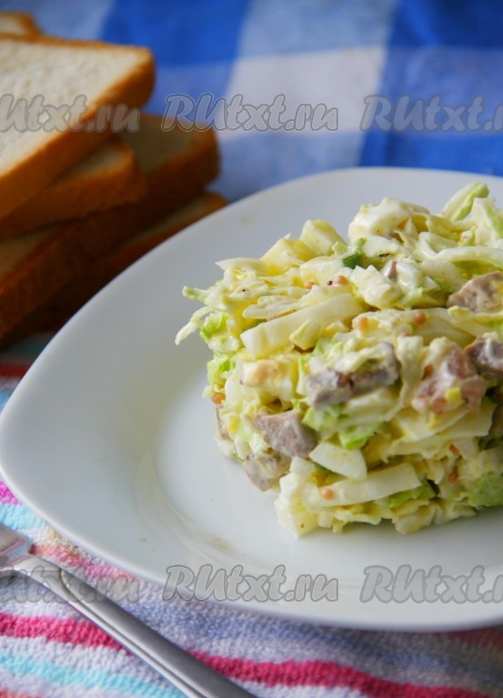 постные салаты рецепты с пекинской капустой и
