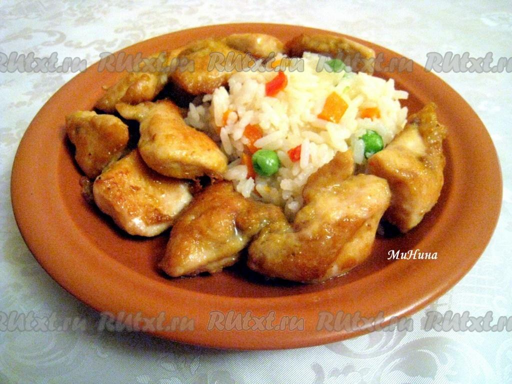 куриная грудка с соевым соусом на сковороде