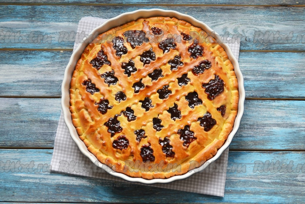 рецепт теста для пирога с вареньем в духовке