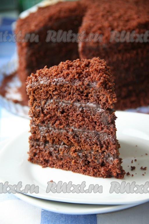 шоколадный торт рецепт из бисквита