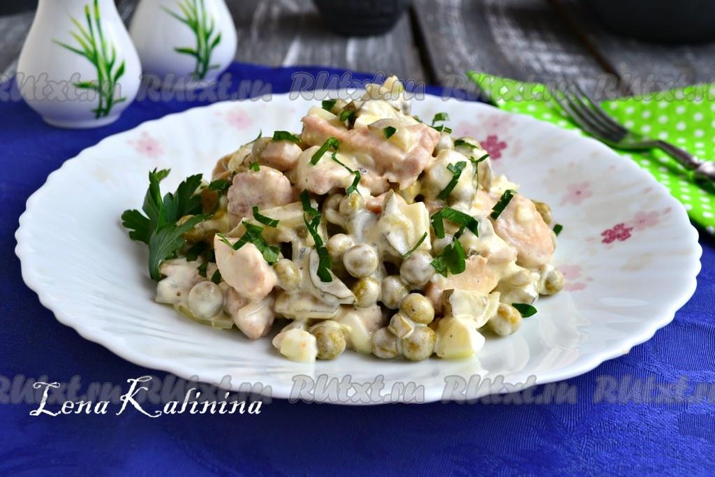 рецепт итальянского салата с курицей и