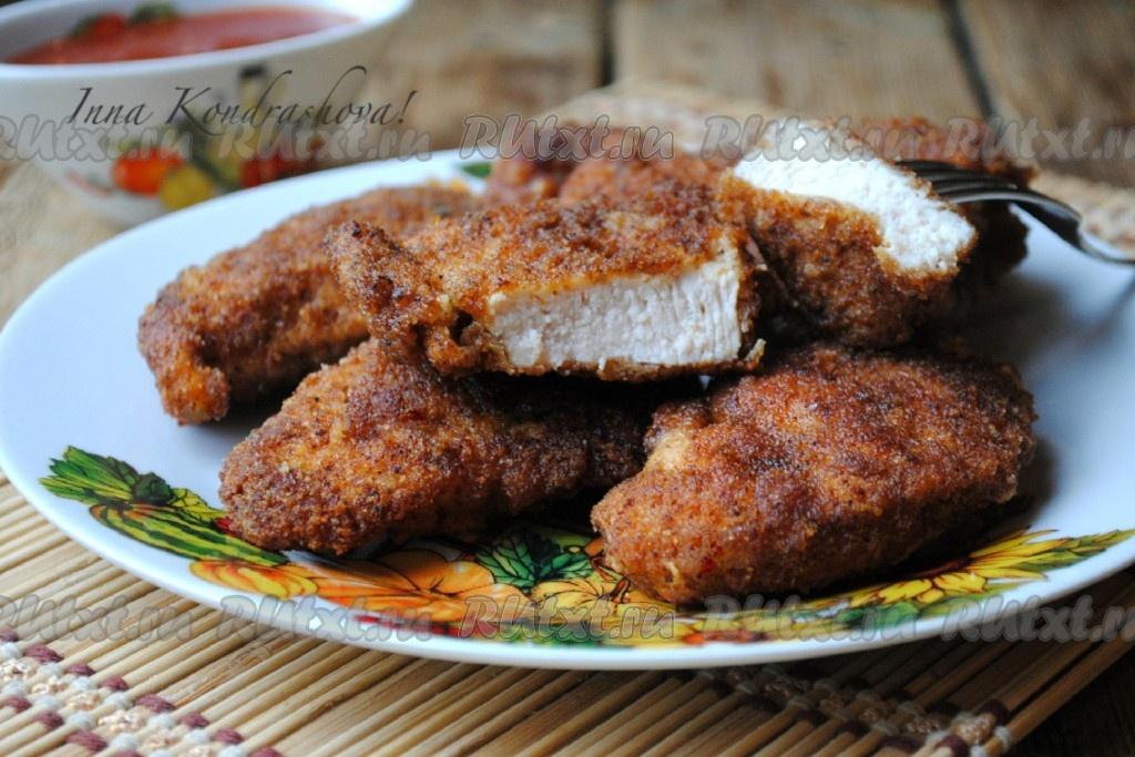 курица в панировочных сухарях рецепт на сковороде