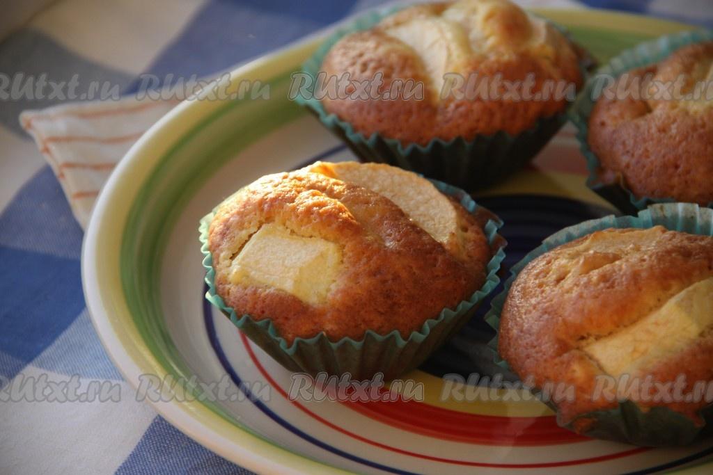 Рецепт кексов с яблоками в силиконовых формочках
